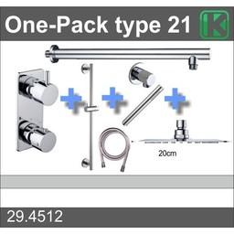 Wiesbaden One-Pack inbouwthermostaatset type 21 (20cm)