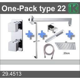 Wiesbaden One-Pack inbouwthermostaatset type 22 (20cm)