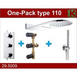 Wiesbaden One-Pack inbouwthermostaatset type 110 (25x60)