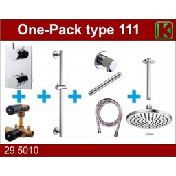 Wiesbaden One-Pack inbouwthermostaatset type 111 (20cm)