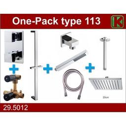 Wiesbaden One-Pack inbouwthermostaatset type 113 (20cm)