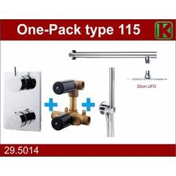 Wiesbaden One-Pack inbouwthermostaatset type 115 (20cm ufo)