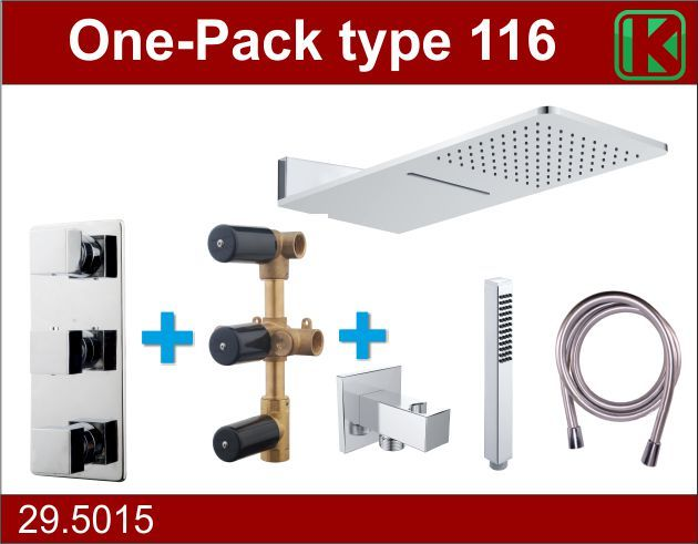 Wiesbaden One-Pack inbouwthermostaatset type 116 (24x55)