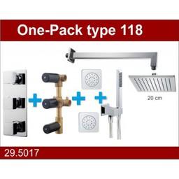 Wiesbaden One-Pack inbouwthermostaatset type  118