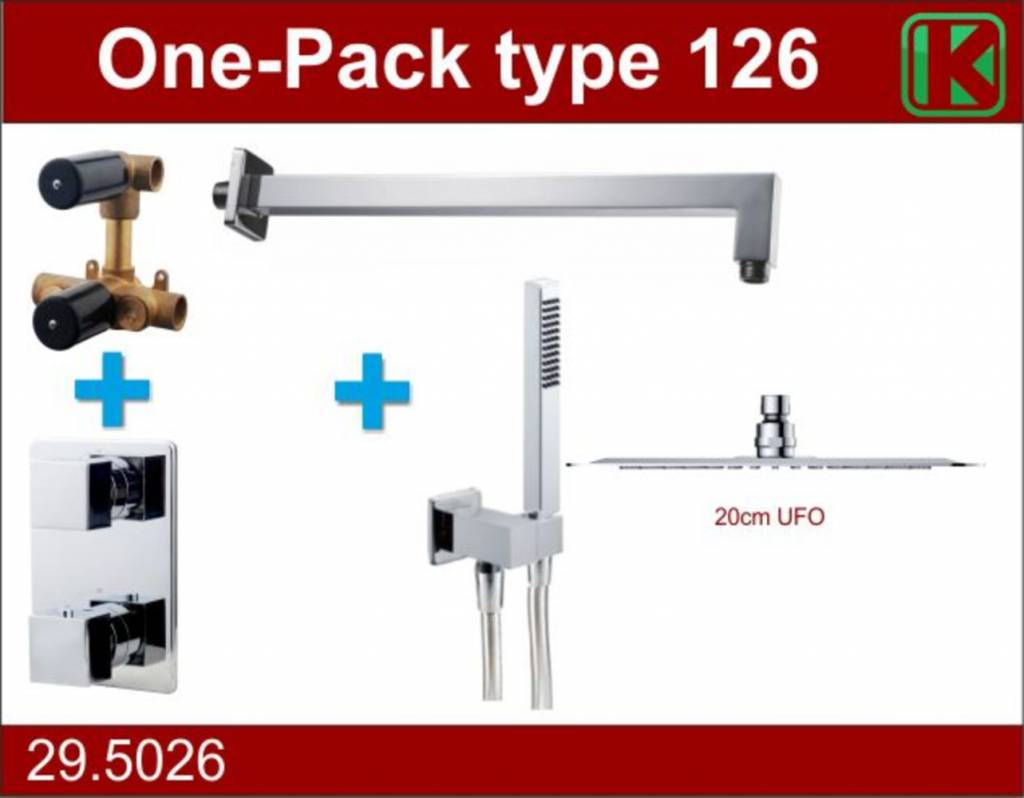 Wiesbaden One-Pack inbouwthermostaatset type 126 (20cm ufo)