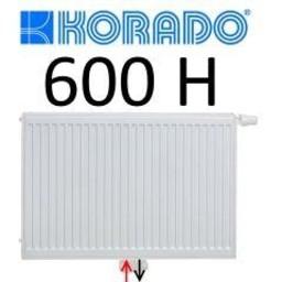 Korado Korado paneelradiator T22 H600, diverse breedte, midden aansl.