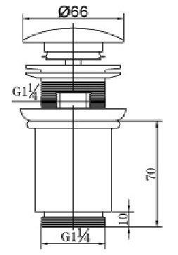 Saniglow Luxe clickwaste 5/4 hoog model RVS-look
