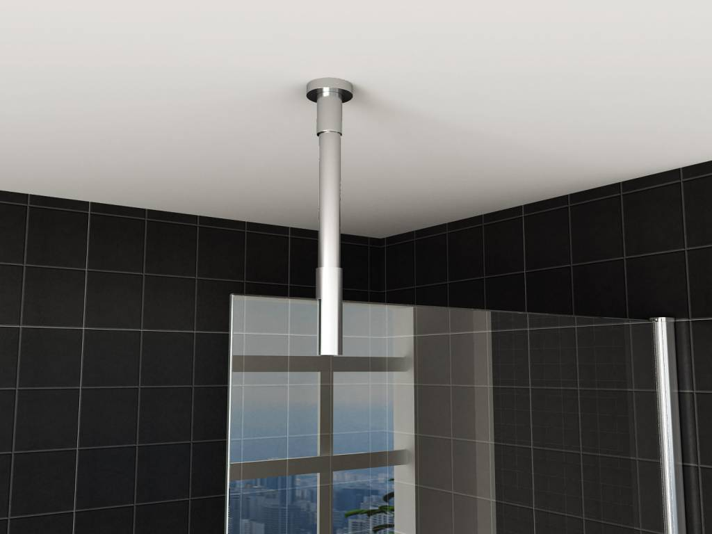 Wiesbaden Stabilisatiestang plafondbevestiging rond 100cm inkortbaar
