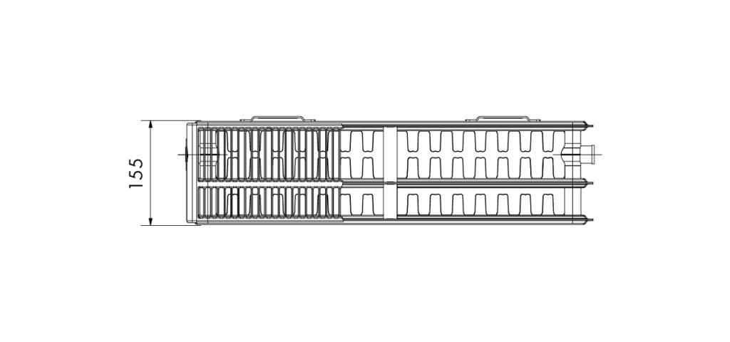 Korado 450 paneelradiator T33, H600, diverse breedte