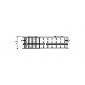 Korado 450 paneelradiator T33, H900, diverse breedte