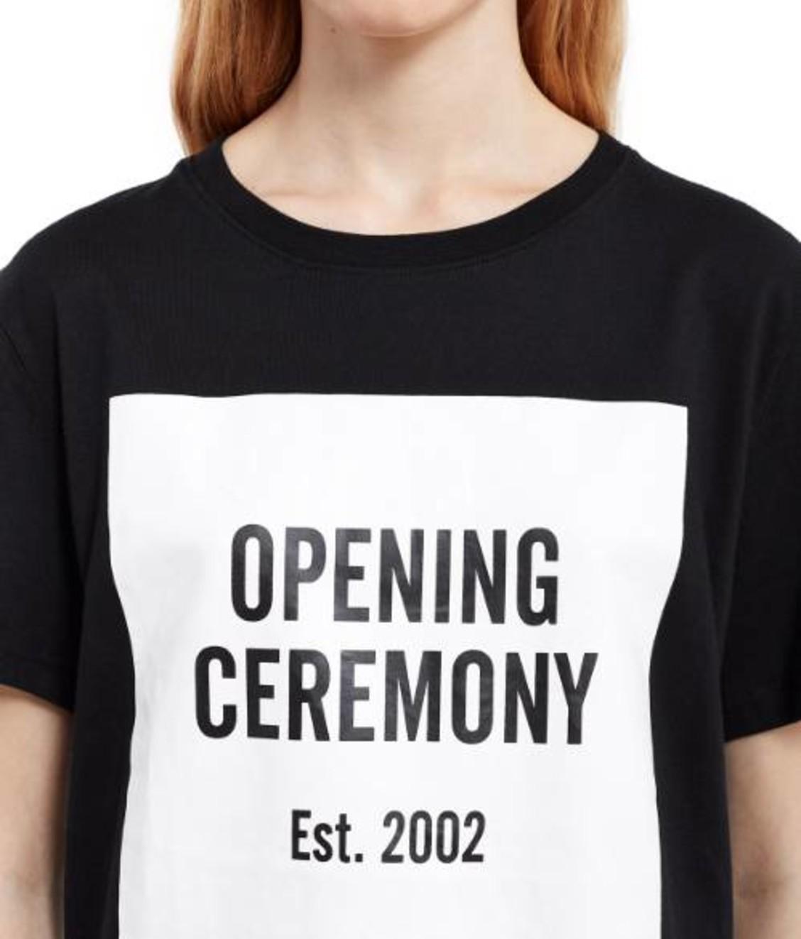 Opening Ceremony Opening Ceremony Logo Tee Zwart