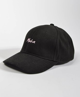 Maha Maha Mom Cap Black / Pink