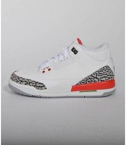 Nike Nike Air Jordan 3 OG GS White Red Cement