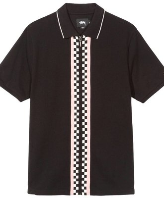 Stussy Stussy Julian Full Zip Polo Black