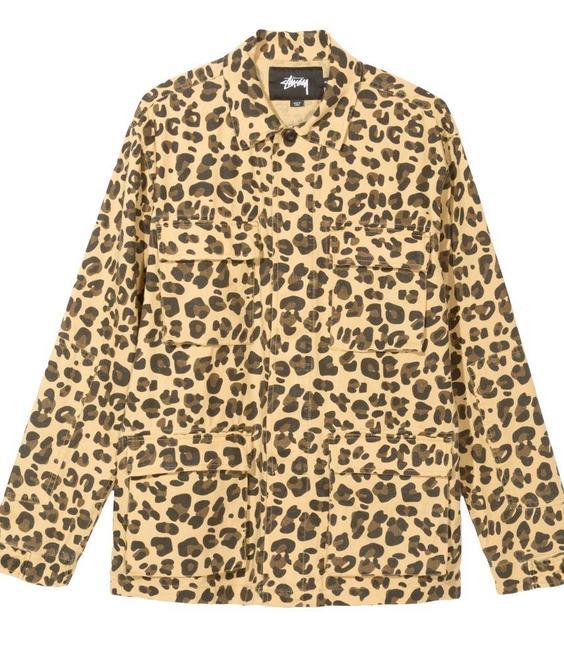 Stussy Stussy Linen Field Jacket Leopard
