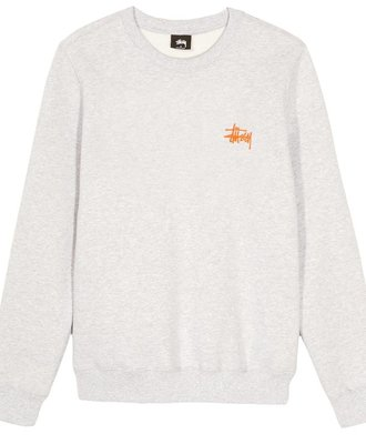 Stussy Stussy Basic Crew Grey Orange