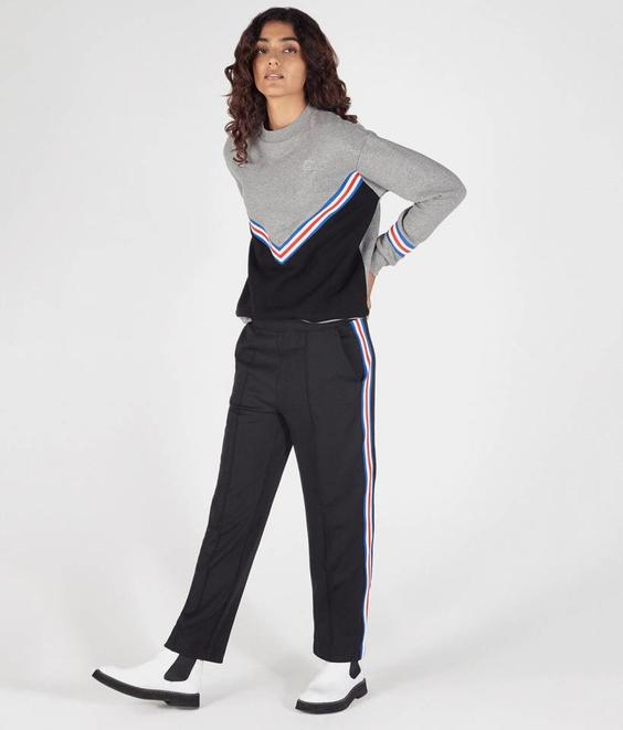 Etre Cecile Etre Cecile Rib Boyfriend Sweat Dark Grey