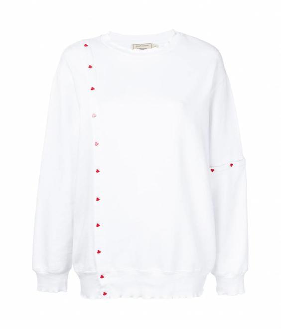Maison Kitsune Maison Kitsune Asymetric Sweatshirt White