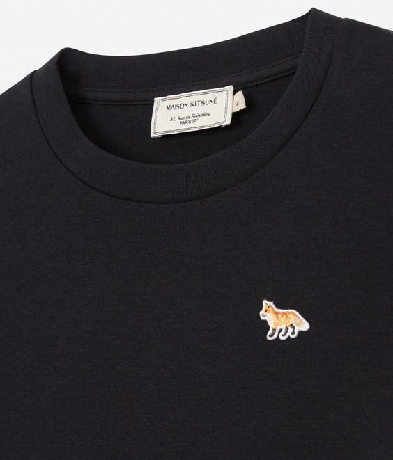 Maison Kitsune Maison Kitsune Tee Shirt Profile Fox Patch Black