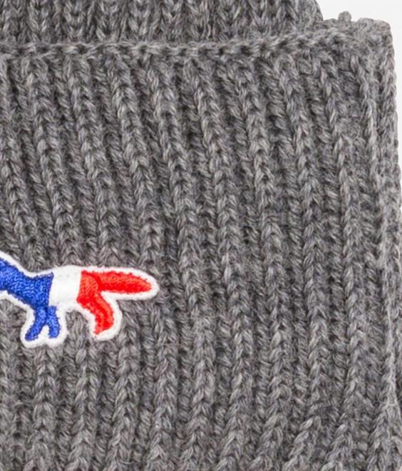 Maison Kitsune Maison Kitsune RIbbed Hat Grey