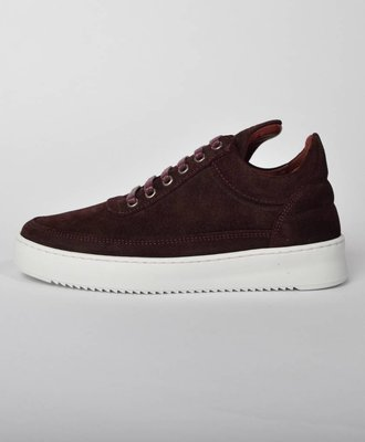 Filling Pieces Filling Pieces Low Top Ripple Waxed Suede Ox Blood
