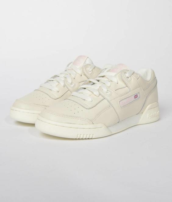 Reebok Reebok Workout Lo Plus White Practical Pink