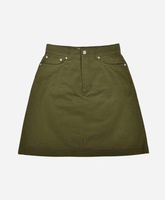 Etre Cecile Etre Cecile Classic Denim Skirt Khaki