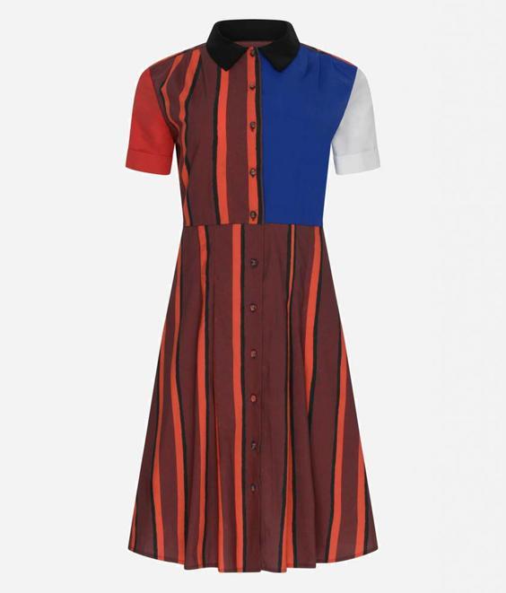 Etre Cecile Etre Cecile Ferris Stripe Dress Margaux Multi
