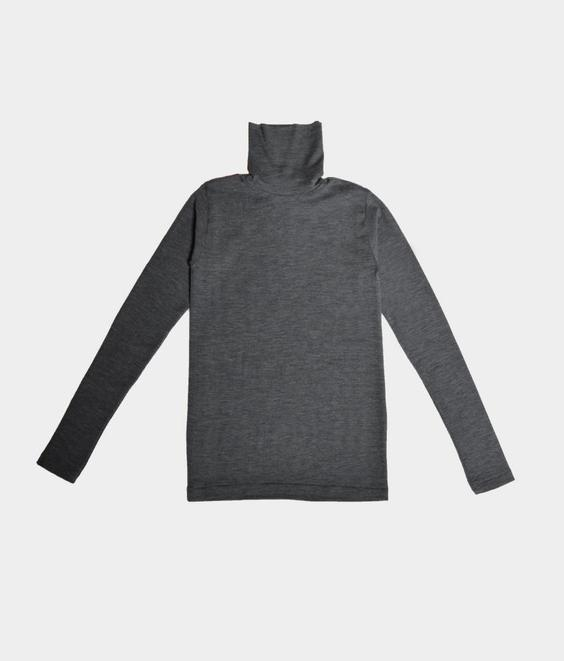 Libertine Libertine Libertine Tail Roll Neck Grey Melange