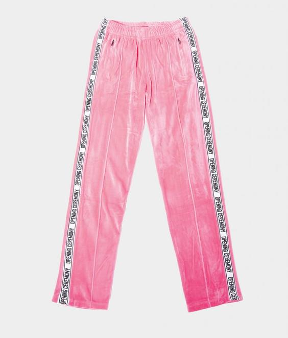 Opening Ceremony Opening Ceremony Velour Trackpant Pink