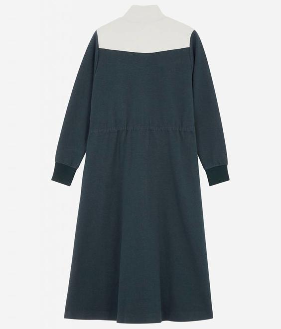 Maison Kitsune Maison Kitsune Sweatshirt Dress Green