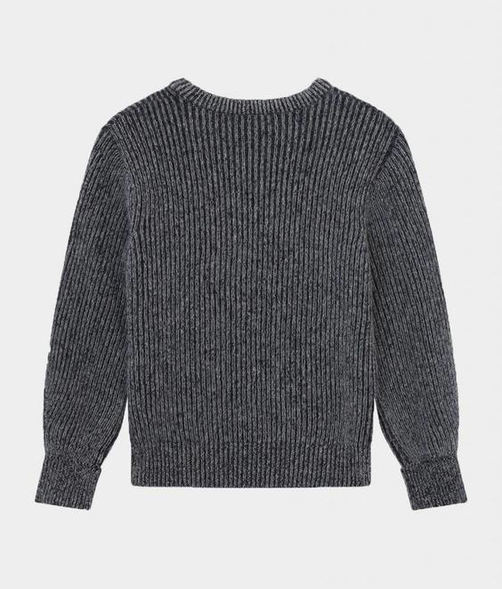 Maison Kitsune Maison Kitsune Ribbed Pullover Black