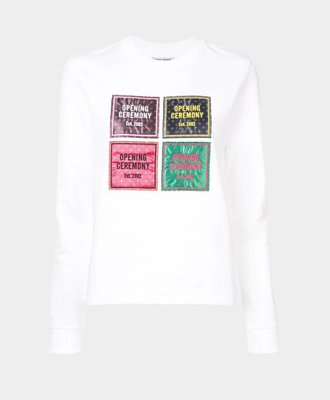 Opening Ceremony Opening Ceremony Medaillon Patchwork Sweat White