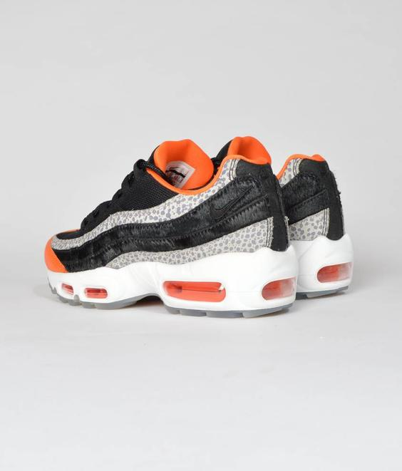 Nike Nike Air Max 95 Black Orange Ponyhair