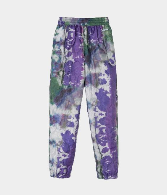 Stussy Stussy Curtis Tie Dye Quilted Pant Olive