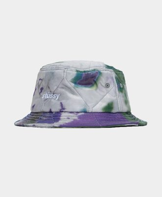 Stussy Stussy Curtis Tie Dye Quilted Bucket Purple
