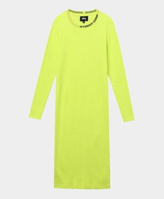 Stussy Stussy Temple LS Rib Dress Safety Yellow