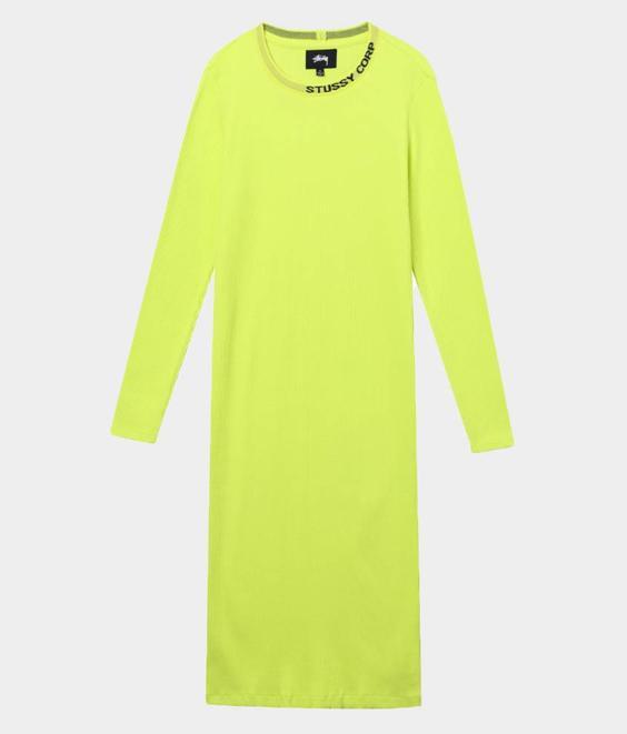 Stussy Stussy Temple LS Rib Dress Safety Yellow
