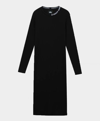 Stussy Stussy Temple LS Rib Dress Black