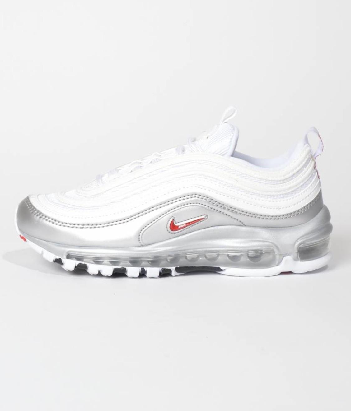 quality design 3ded8 e53fe Nike Nike Air Max 97 QS White Varsity Red Metallic Silver