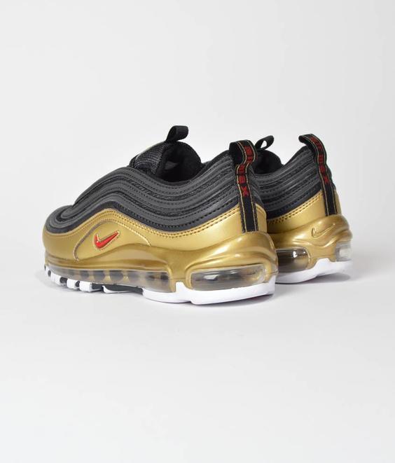 Nike Nike Air Max 97 QS Black Varsity Red Metallic Gold