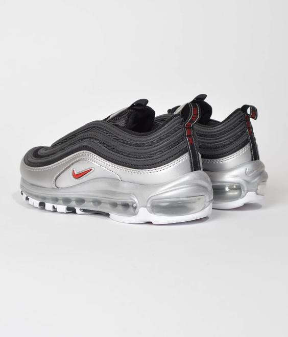 Nike Nike Air Max 97 QS Black Varsity Red Metallic Silver