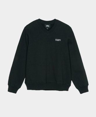 Stussy Stussy Elin V-Neck Fleece Pull Over Black