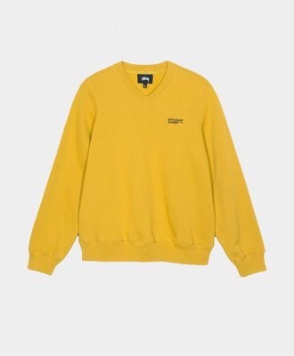 Stussy Stussy Elin V-Neck Fleece Pull Over Gold