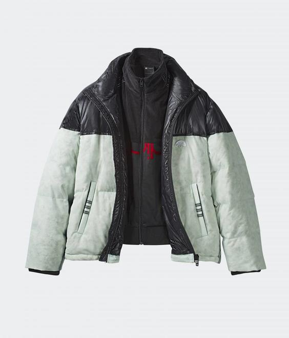 Adidas Adidas AW Disjoin Puffer Clear Mint Black