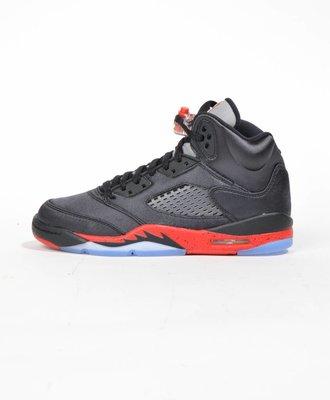 Nike Nike Air Jordan 5 GS Black Red Satin