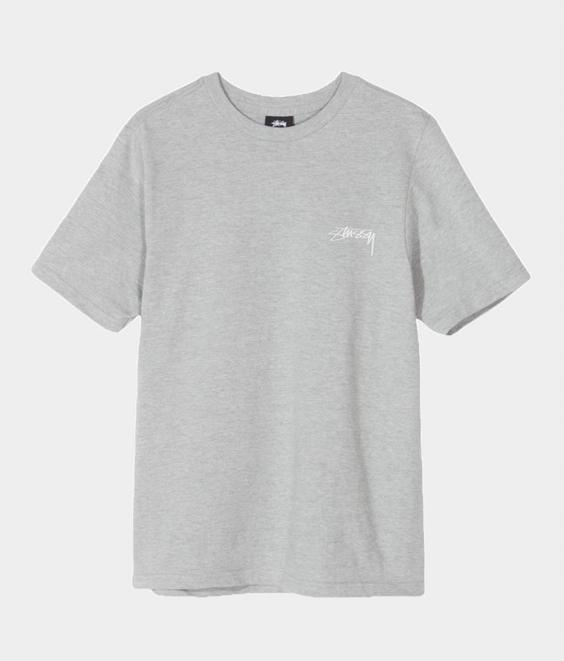 Stussy Stussy Smooth Stock Tee Grey Heather
