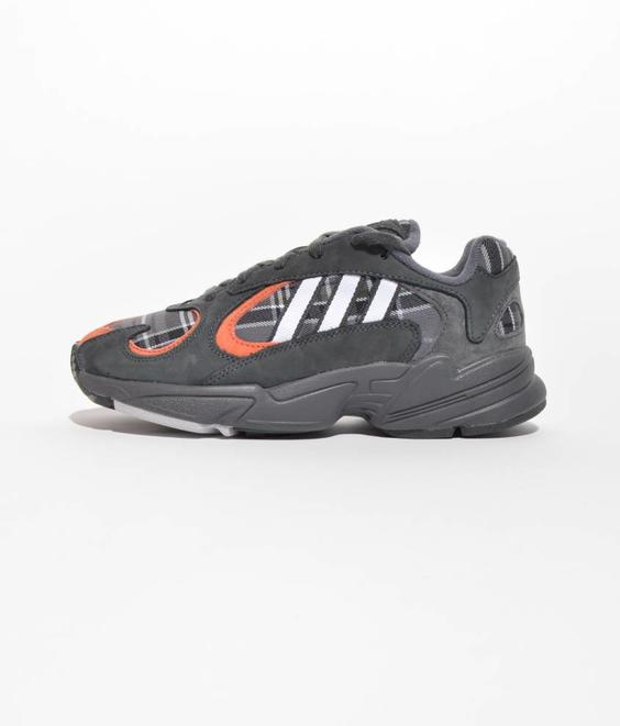Adidas Adidas Yung-1 Plaid Grey Orange