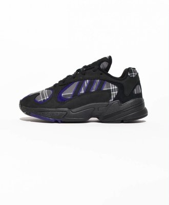 Adidas Adidas Yung-1 Plaid Black Purple