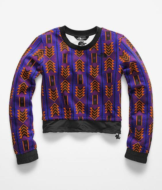 The North Face The North Face W 92 Rage Crop Crew Print